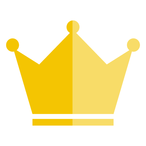Three point crown thick icon