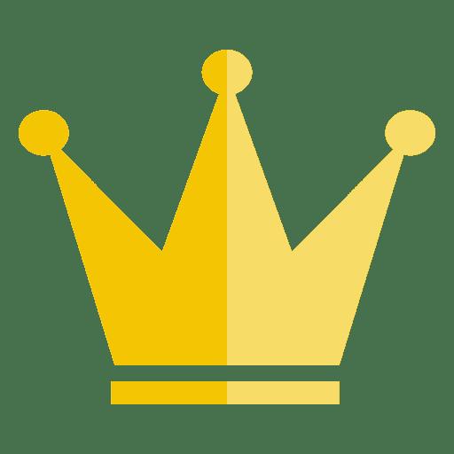 Icono delgado de corona de tres puntos