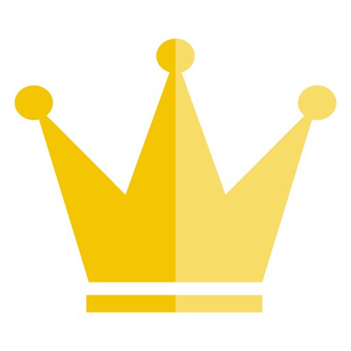 Three point crown thin icon Transparent PNG