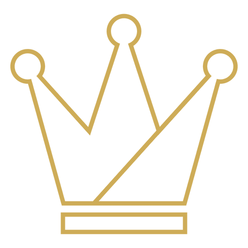 Three point crown thin stroke Transparent PNG