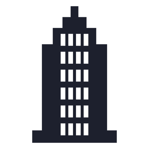 Tower building silhouette