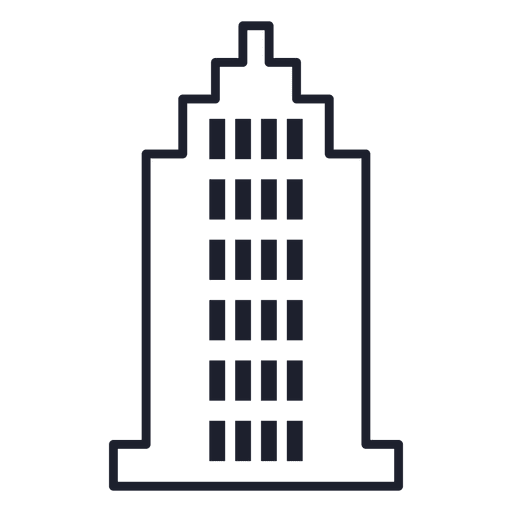 Tower building stroke Transparent PNG
