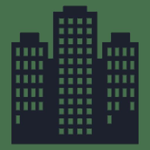 Torres edificio silueta