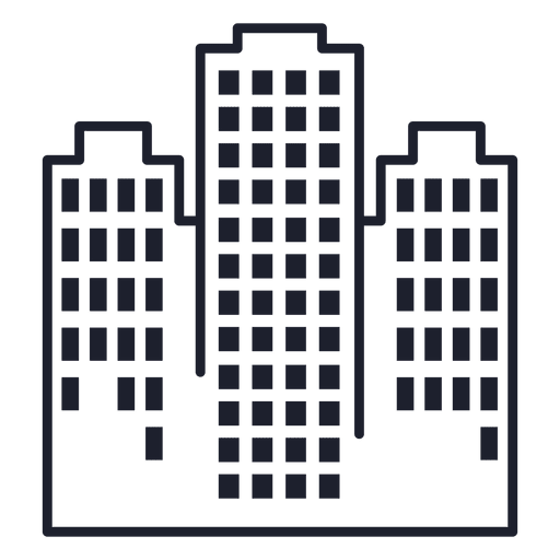 Towers building stroke Transparent PNG