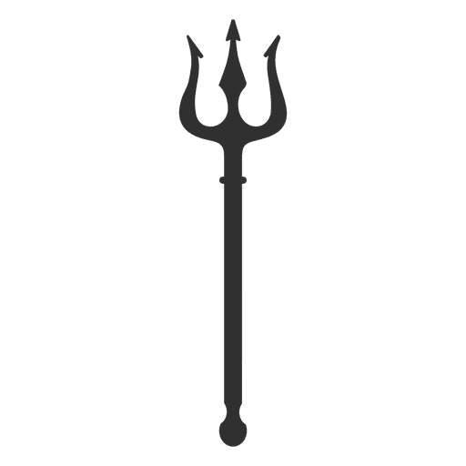 Trident harp silhouette Transparent PNG