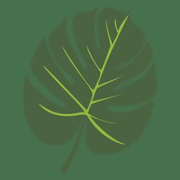 Ilustración de hoja de palma tropical