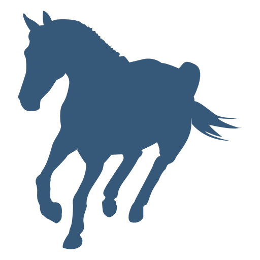 Turning horse silhouette