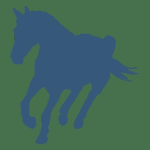 Virando a silhueta do cavalo Transparent PNG