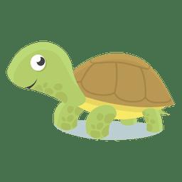Ilustração do bebê tartaruga