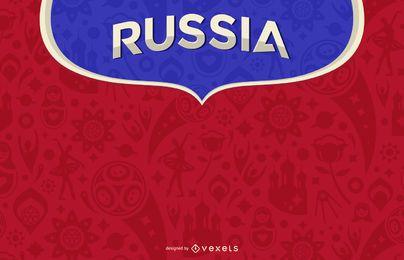 Rússia 2018 design de fundo