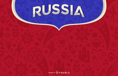 Russia 2018 background design