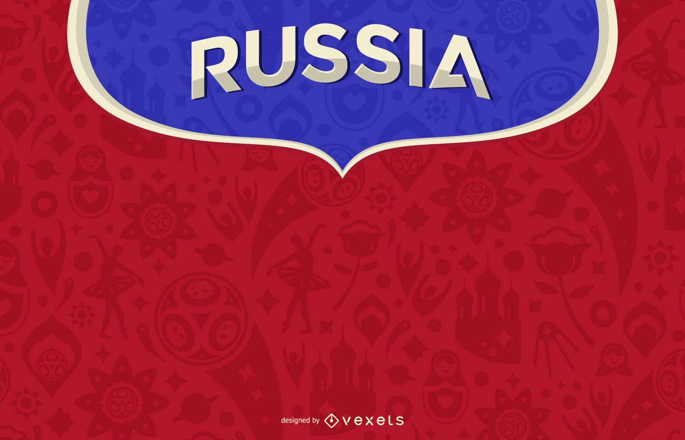 Russia 2018 background design
