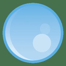 Ilustración de círculo de gota de agua