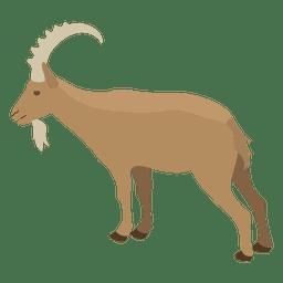 Ilustración de cabra salvaje