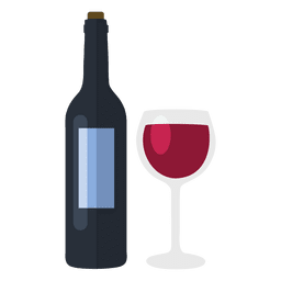 Garrafa de vinho e vidro
