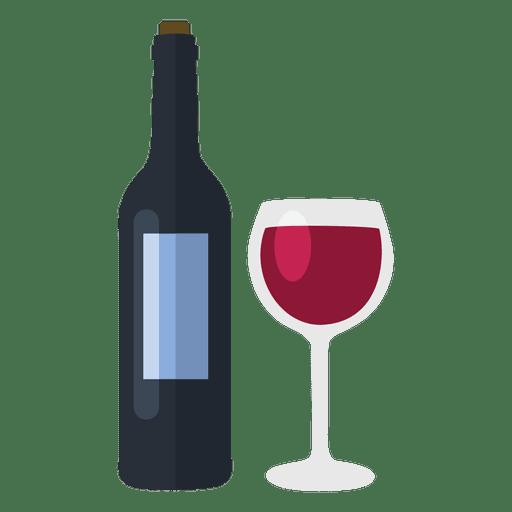 Botella de vino y copa Transparent PNG