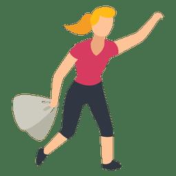 Mujer bolsas de compras ilustración