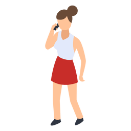 Woman talking phone illustration
