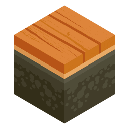 Wooden bridge isometric landscape