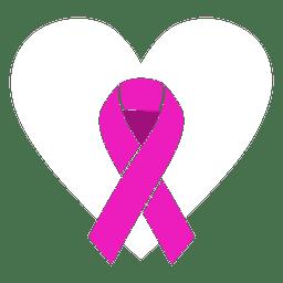 Fita de dia mundial do câncer estilizada