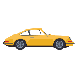 Yellow car illustration