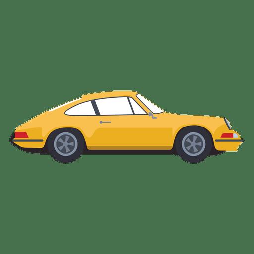 Yellow car illustration Transparent PNG