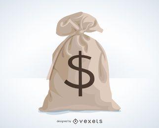 Saco de ilustração de dinheiro