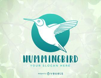 Diseño de plantilla de logotipo de colibrí