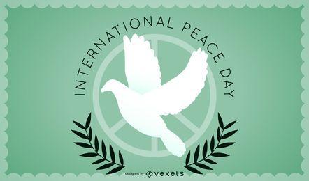 Minimalistisches Design des Friedenstages