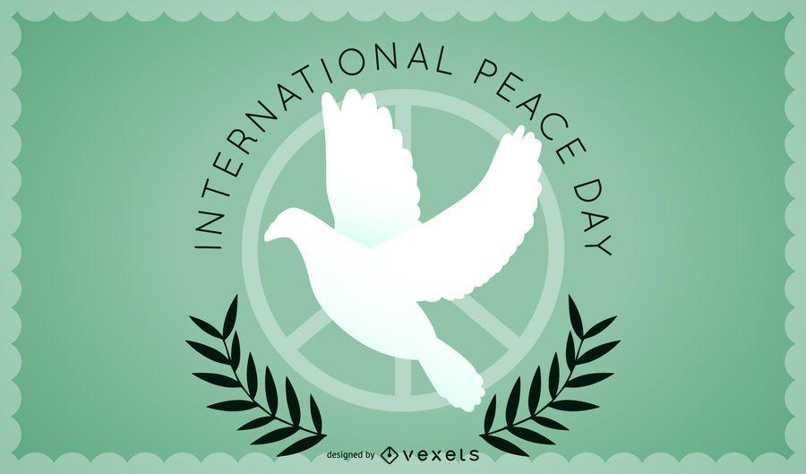 Design minimalista do dia da paz