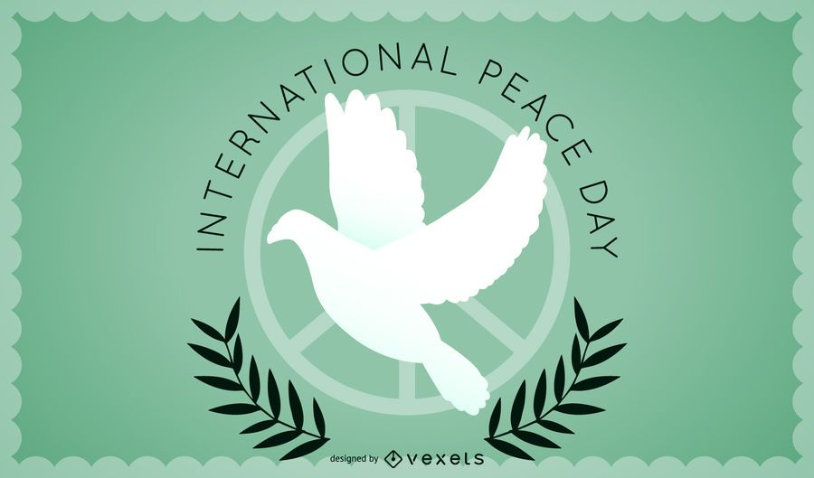 Minimalist Peace Day design