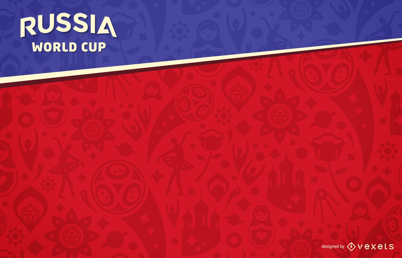russia 2018 world cup background vector