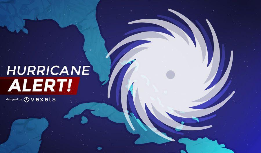 Bandeira de alerta do furacão Irma