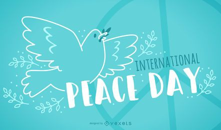 Freundlicher internationaler Friedenstagentwurf