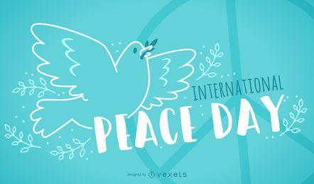 Freundliches Design des Internationalen Friedenstages