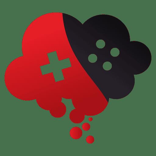 Logotipo de jogos de computação em nuvem
