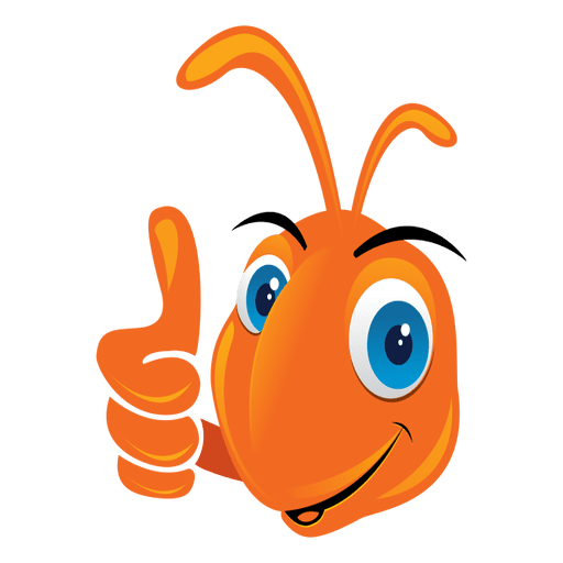 Funny ant thumbs up icon