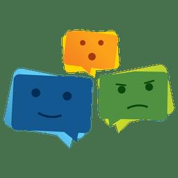Witziges Emoticon-Logo