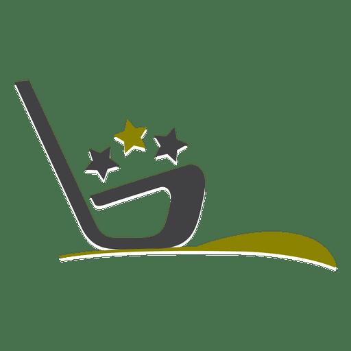 Logo deportivo de golf Transparent PNG