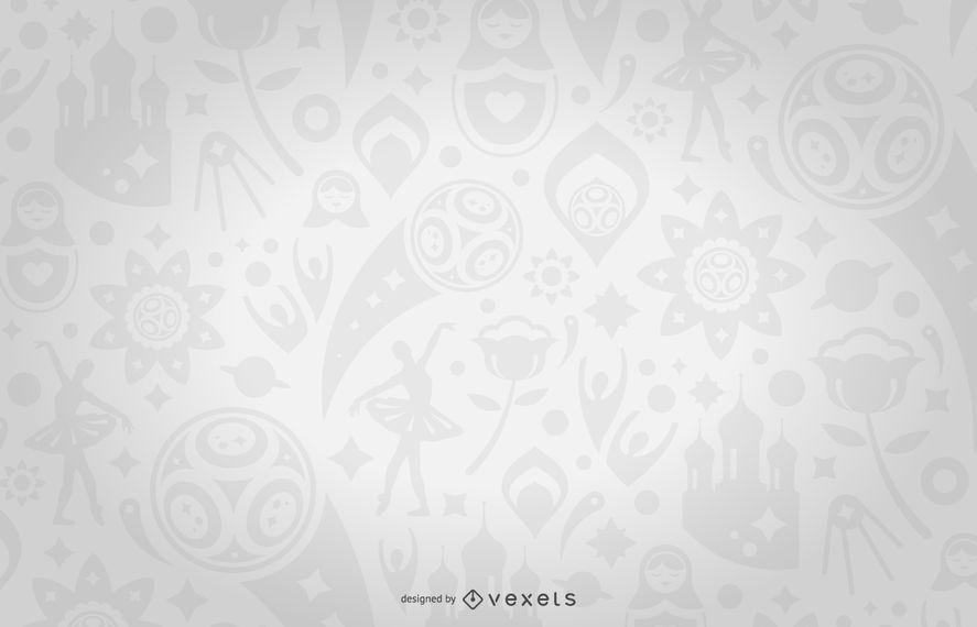 Rusia 2018 sin patr n en gris descargar vector for Papel tapiz de patron para el pasillo