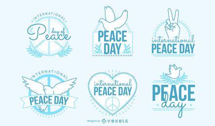 Coleção de emblemas do Dia da Paz