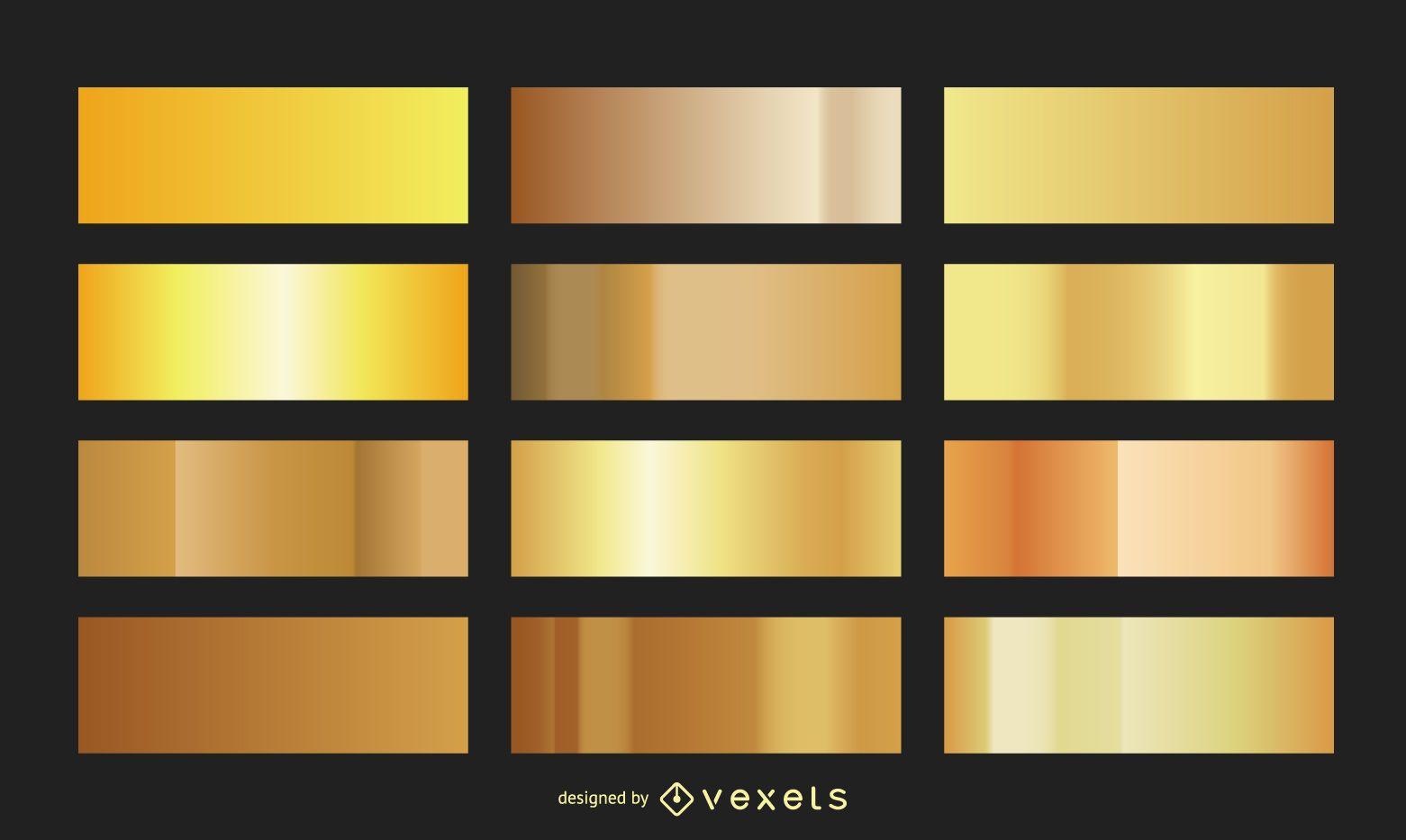 Colección de degradados dorados