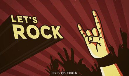 Fondo del cartel de la roca