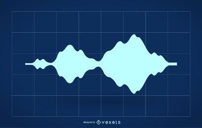 Silhueta de onda de áudio