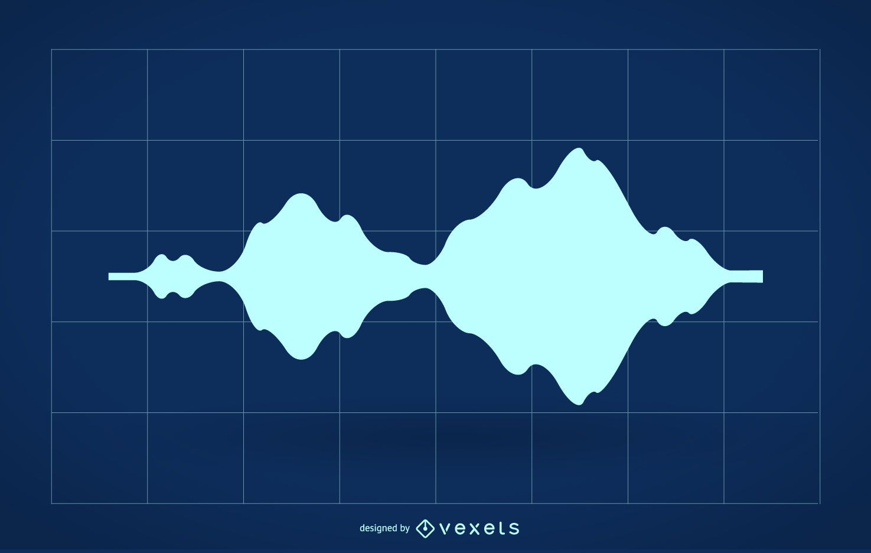Audio wave silhouette