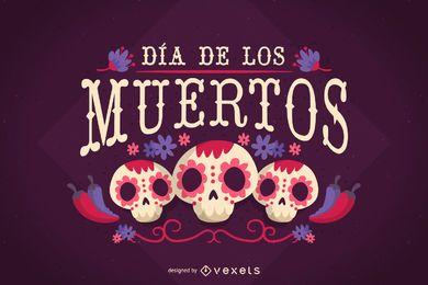 Poster de Dia de los Muertos