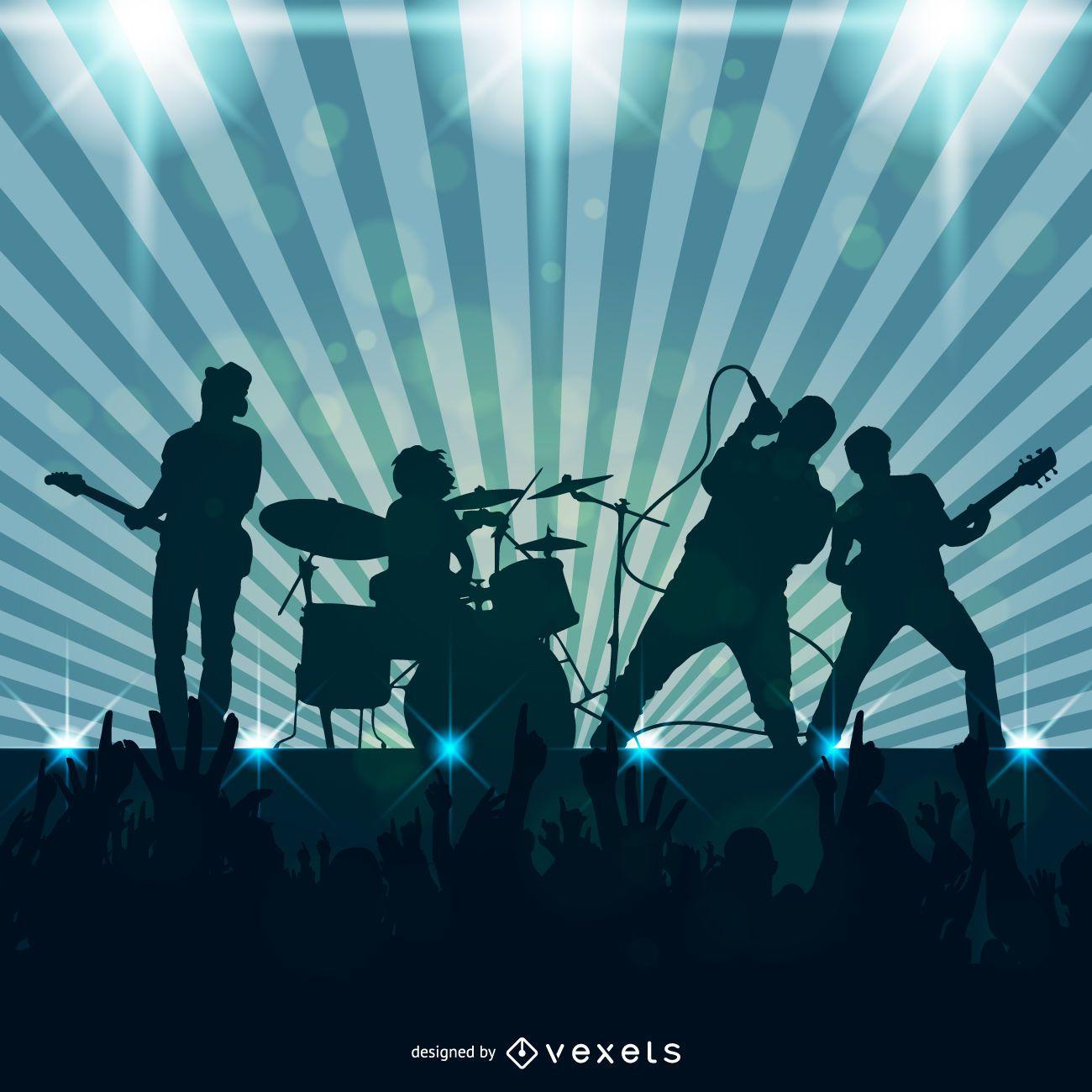 Banda de rock juego ilustración