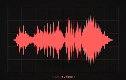 Silueta de ilustración de onda de sonido