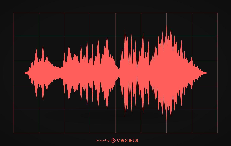 Silhueta de ilustração de onda sonora