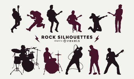 Musiker Silhouette Sammlung
